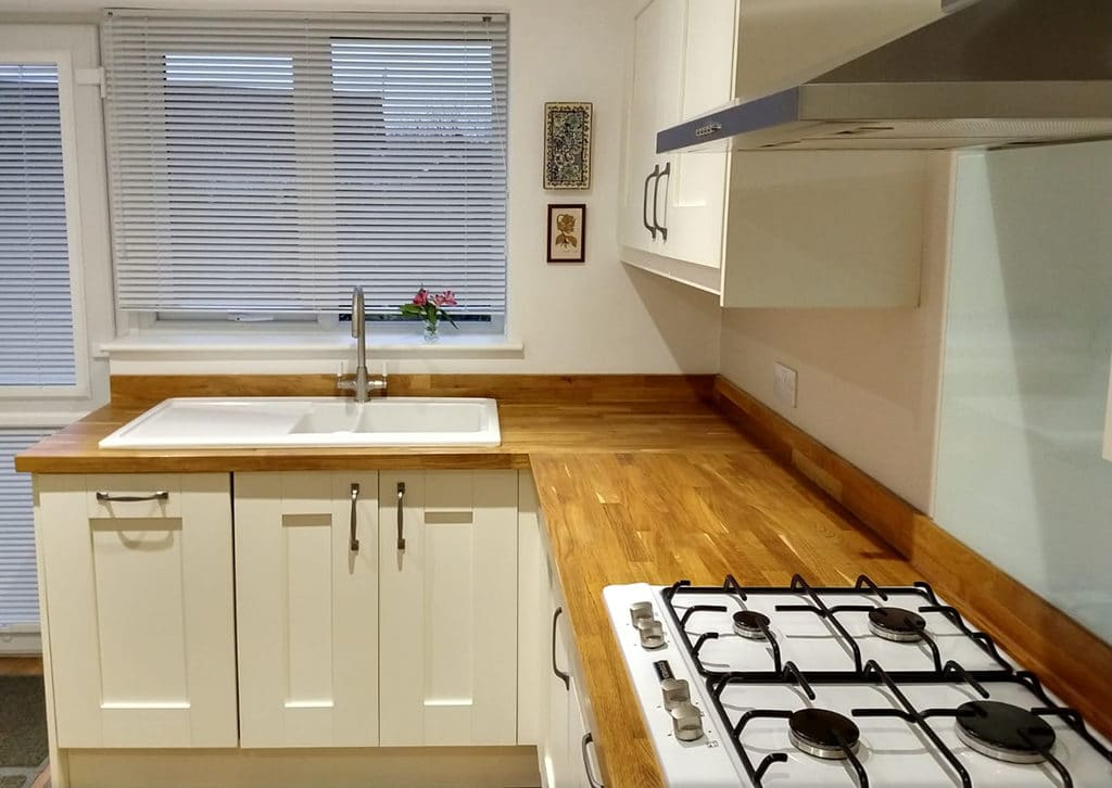 Kitchen with timber worktop