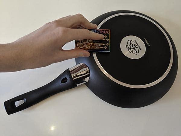 Induction hob pan magnet test
