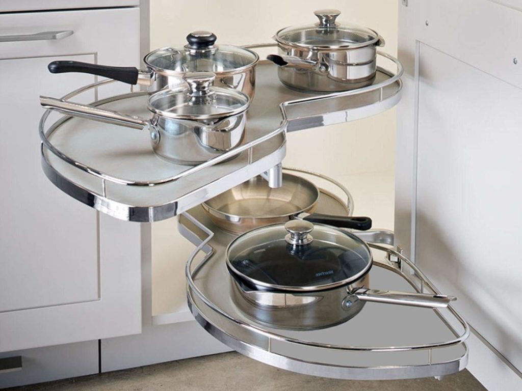 Le mans corner storage solution kitchen accessories