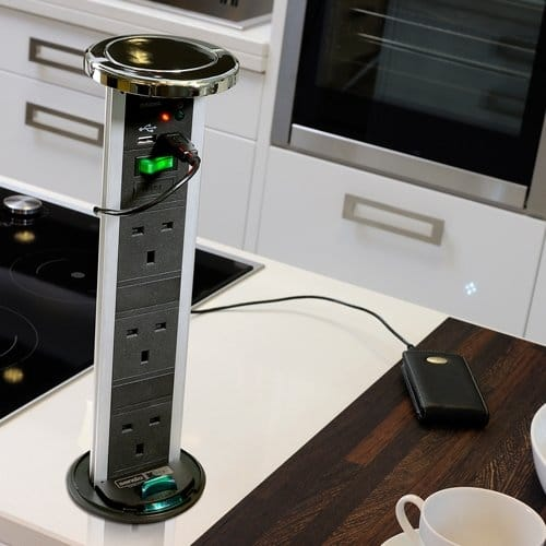 Pop-up socket kitchen accessories