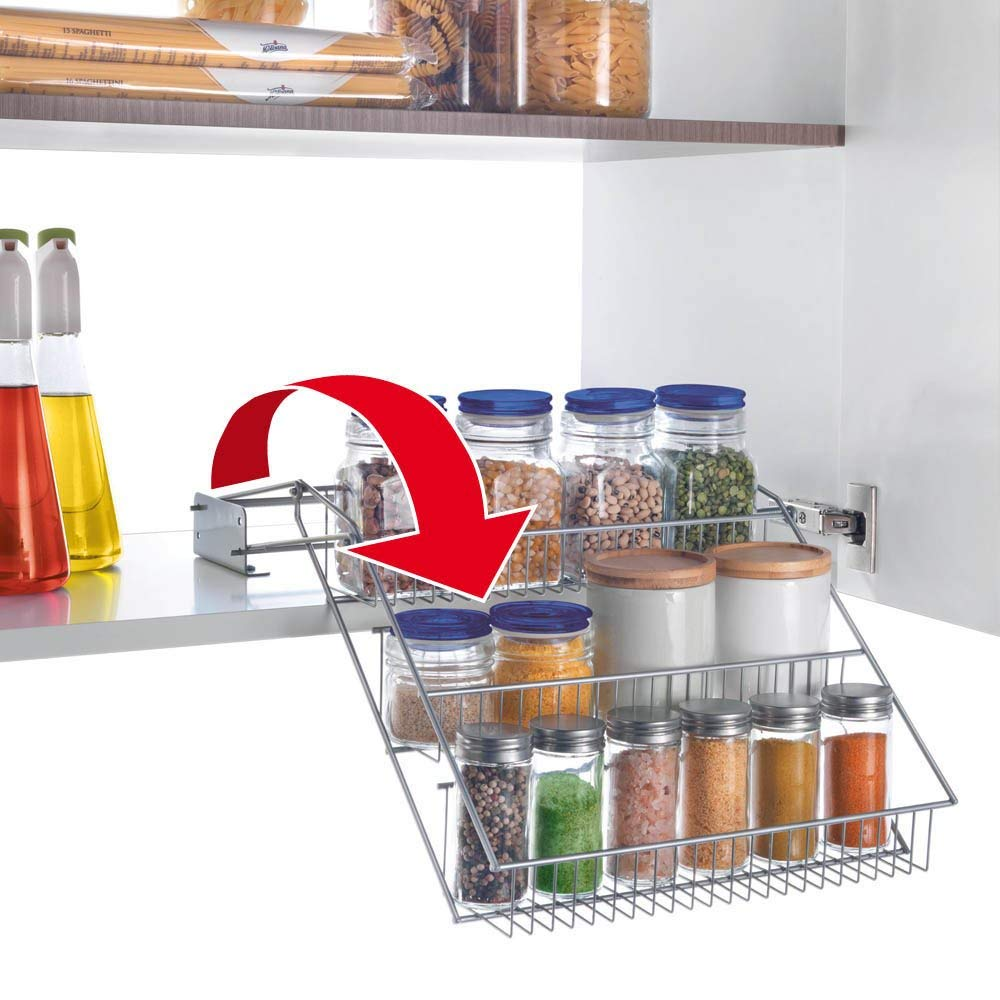 Pull down wire rack kitchen accessories