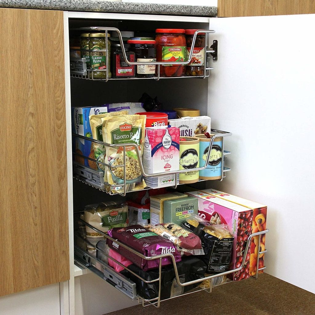 Pull out wire shelves kitchen accessories