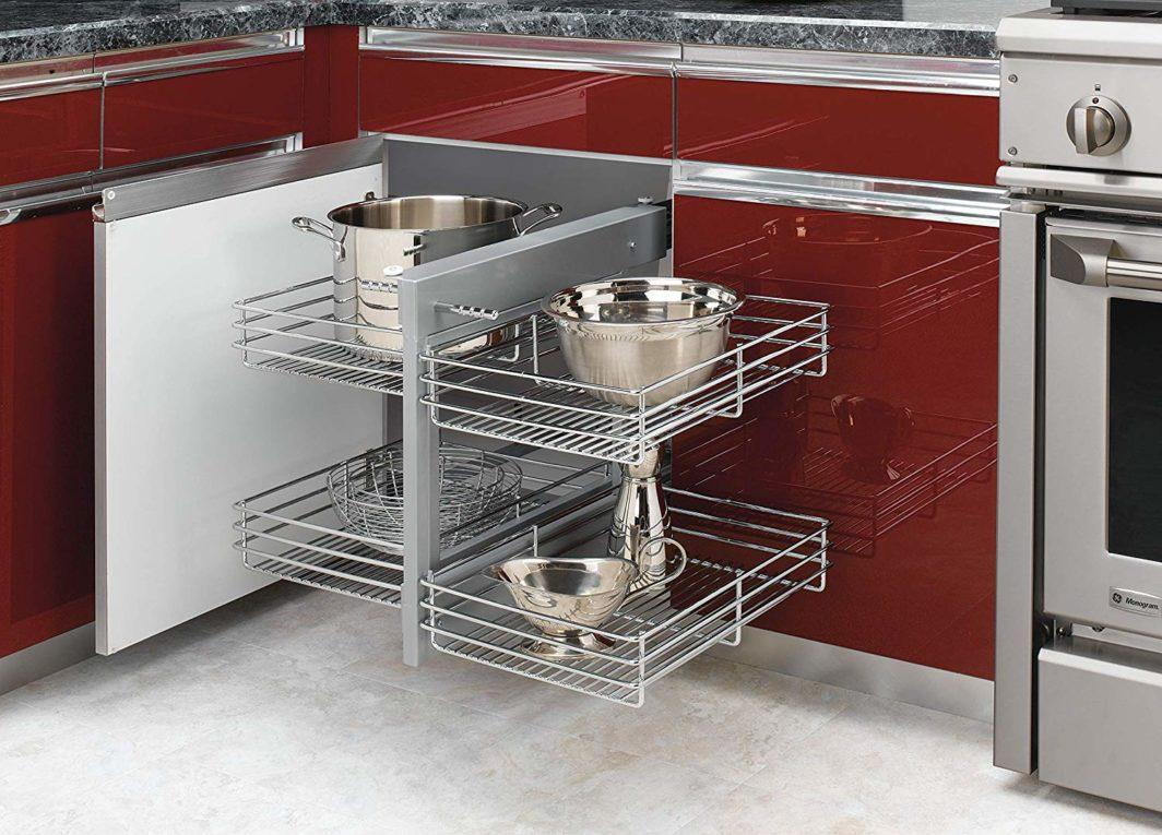 Blind corner storage solution small kitchens