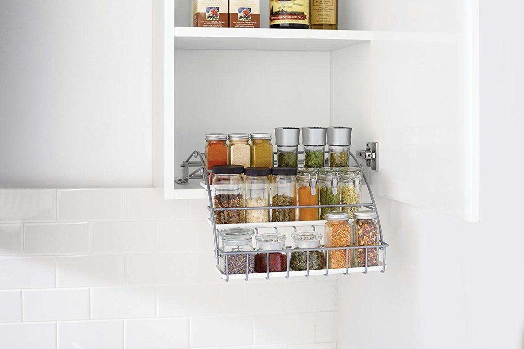 Pull down spice rack kitchen