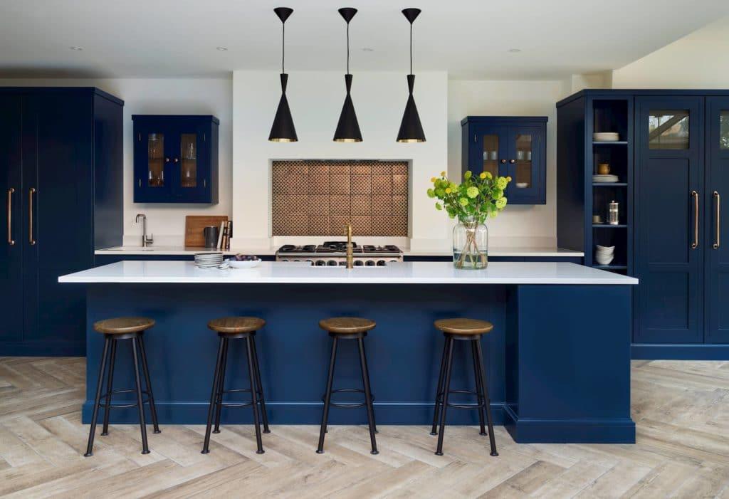 Harvey Jones - Dark Blue Shaker Kitchen