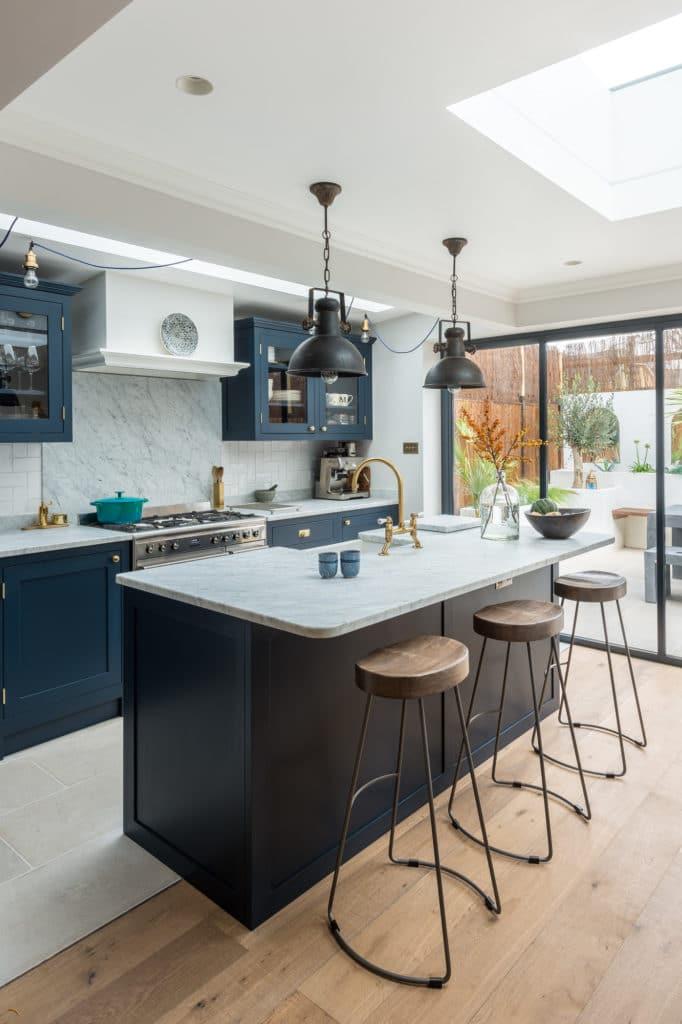 The Shaker Kitchen Company - Dark Blue Kitchen