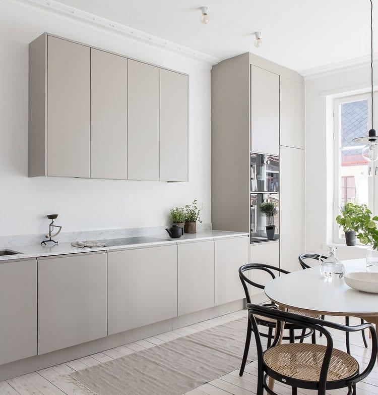 Minimalist grey kitchen