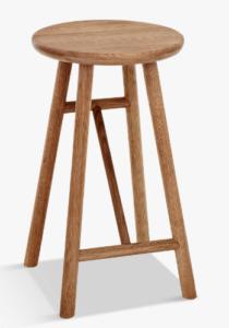 Wooden scandinavian bar stool