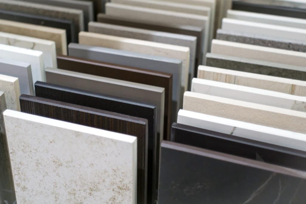 Quartz countertop samples