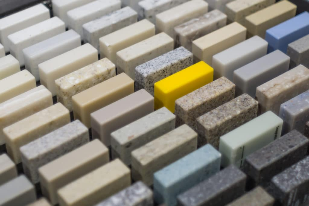 Corian countertop samples