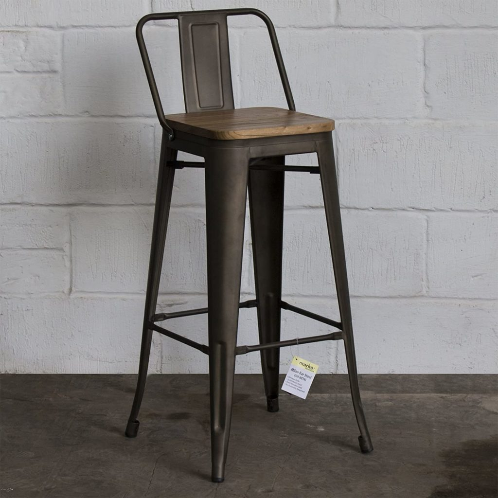 Marko Furniture industrial bar stool