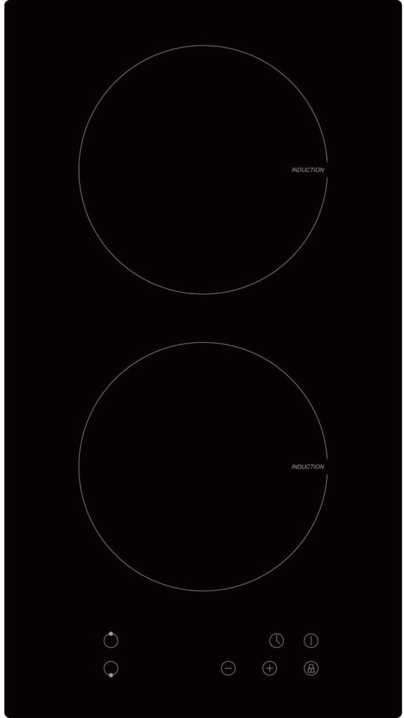 electriQ 30cm 2 Zone Induction Hob - Plug in and go!