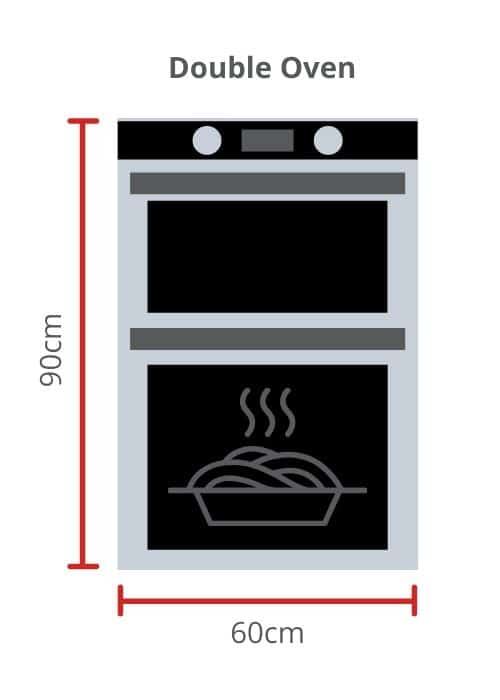 Double Oven dimensions