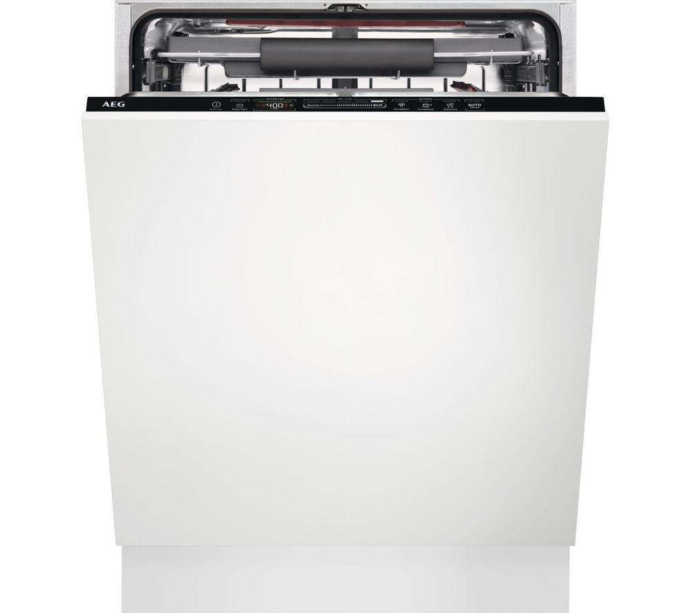 AEG ComfortLift FSS62807P Fully Integrated Standard Dishwasher with cutlery tray