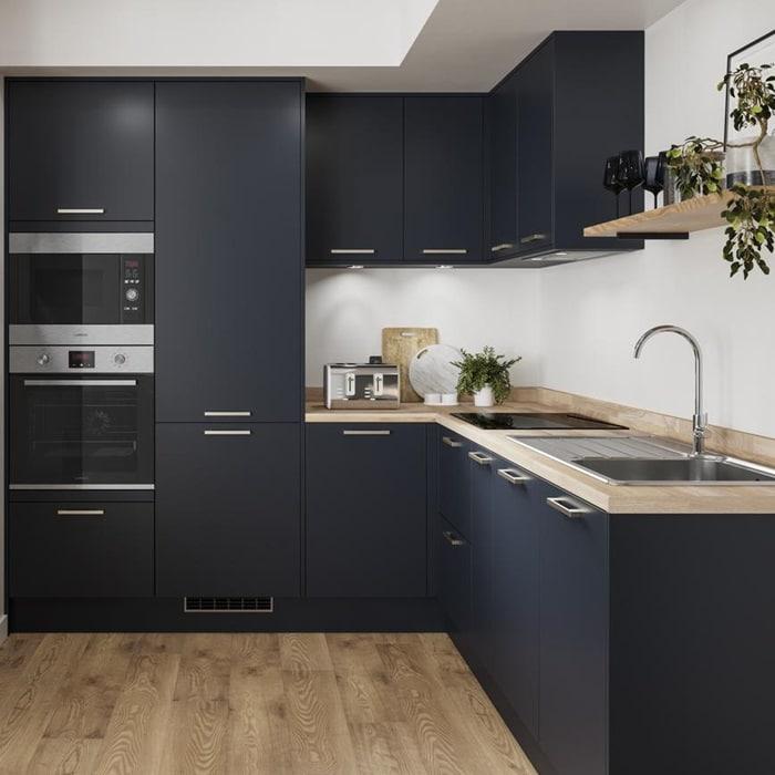 Dark Blue small kitchens ideas