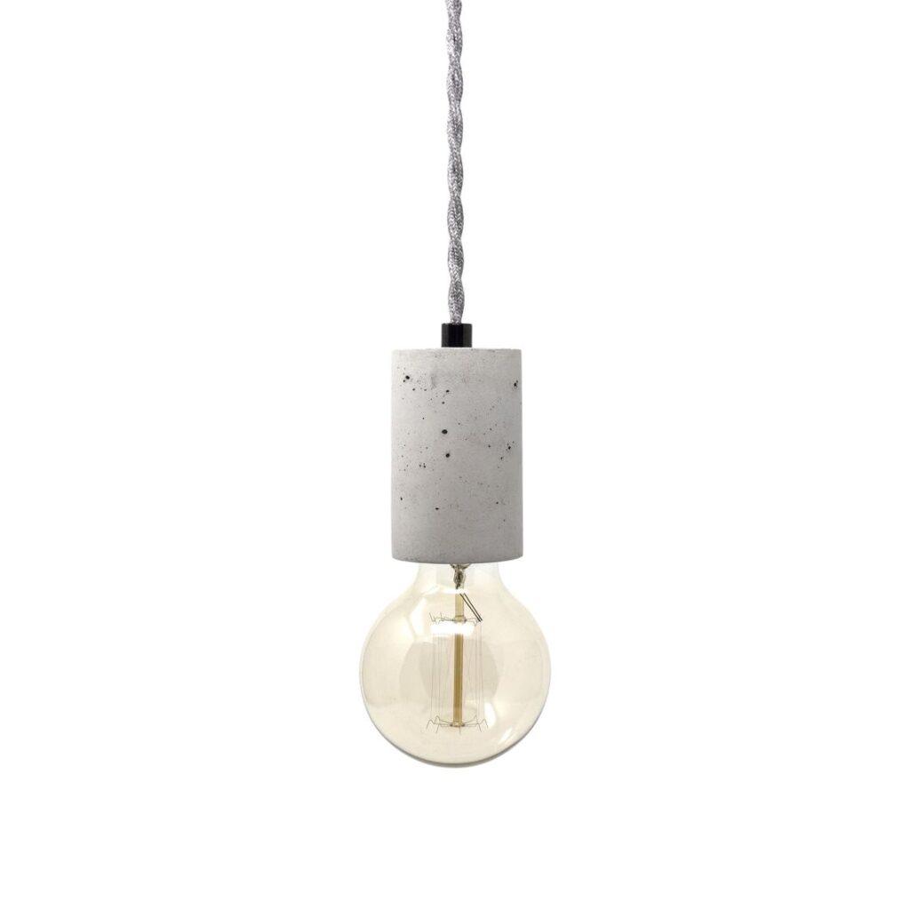Concrete Cylinder - Pendant Light