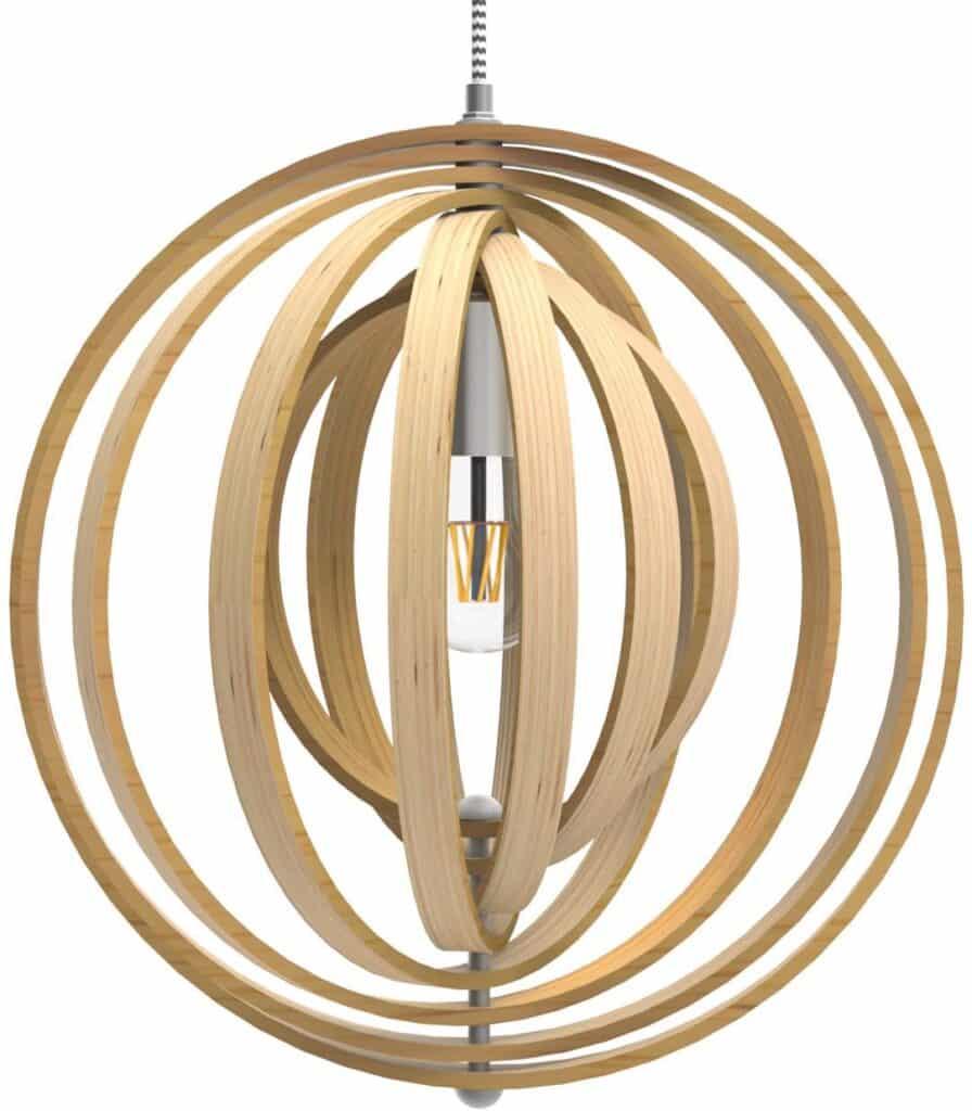 Tomons Minimalist Hollow Wood Pendant Light