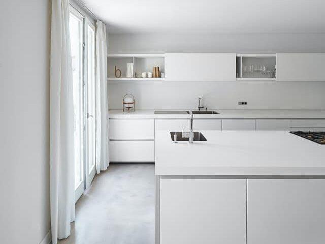 Kitchen with prep sink on island