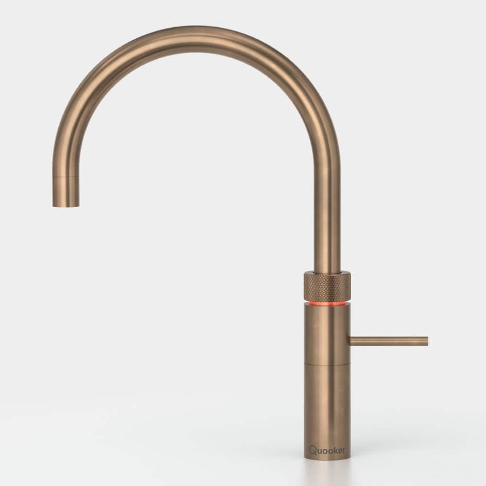 Quooker Fusion boiling water tap in Patinated Brass