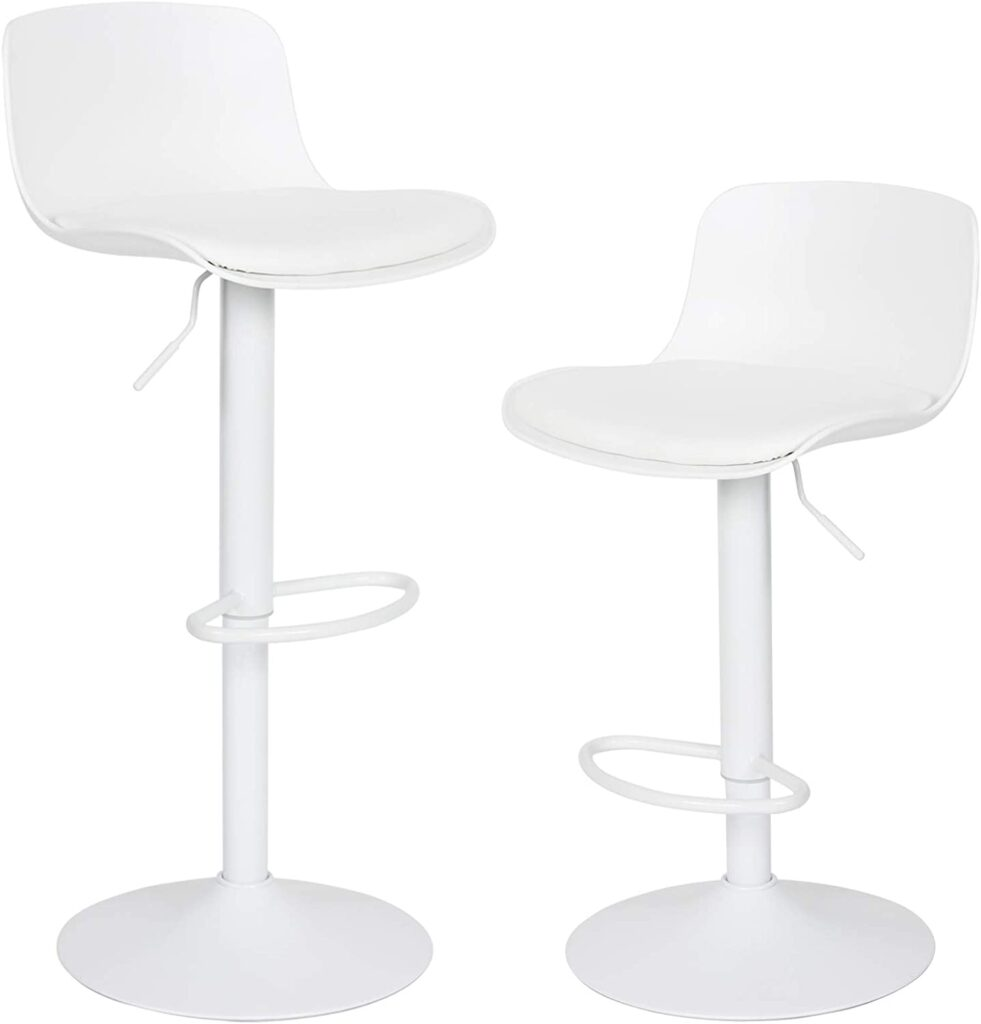 YOUNIKE Modern BarStools (Set of 2)