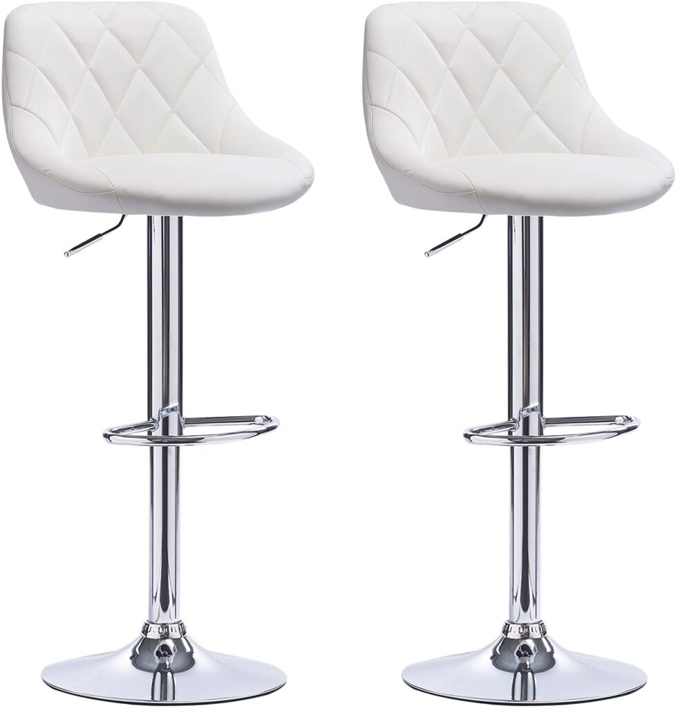 WOLTU Gas Lift Swivel Bar Stools (Set of 2)