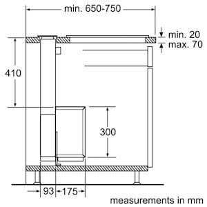 Downdraft Extractor installation diagram