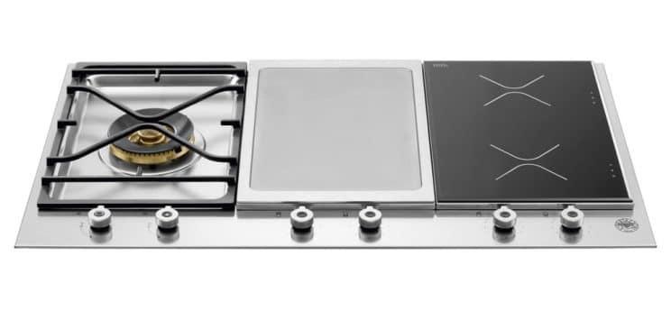 Bertazzoni PM3631IGX 90cm Professional Mixed Fuel Gas Ceramic Induction Hob