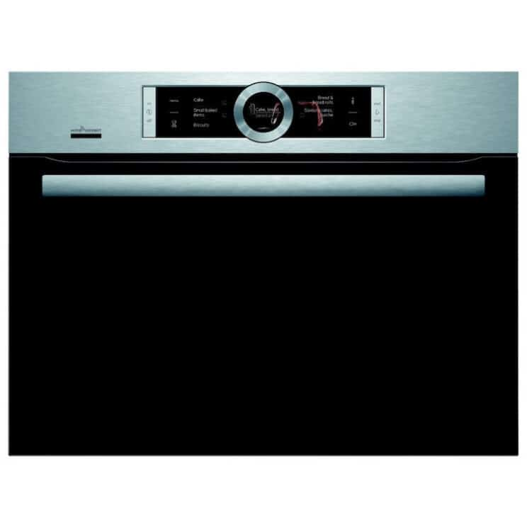 Bosch Serie 8 CMG676BS6B Wifi Connected Built-In Compact Single Oven With Microwave Function