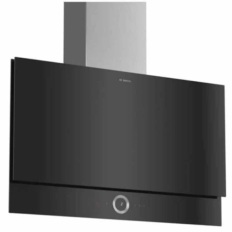 Bosch Serie 8 DWF97RV60B Wifi Connected Angled Chimney Cooker Hood Smart Kitchen Appliance