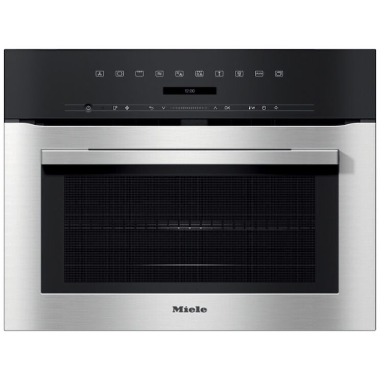 Miele H7140BM Wifi Connected Built-In Compact Single Oven With Microwave Function