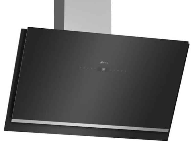 NEFF N90 D96IKW1S0B Wifi Connected  Angled Chimney Cooker Hood  Smart Kitchen Appliance