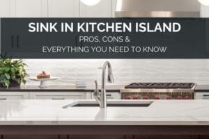 Sink in kitchen island pros and cons