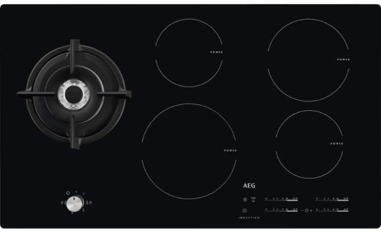 AEG HD955100NB 88cm Mixed Fuel Induction And Gas Hob