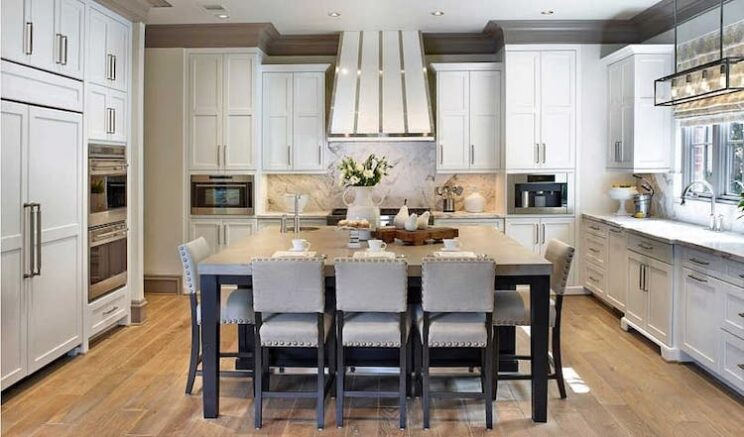 Kitchen Island With U-Shaped Seating